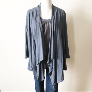 Cut Loose Double slayer Draped Front Cardigan Set
